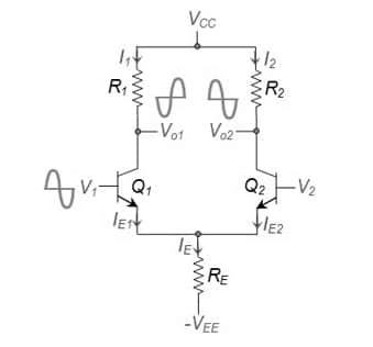 differential amplifier operation