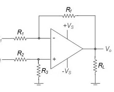 differential amplifier using opamp
