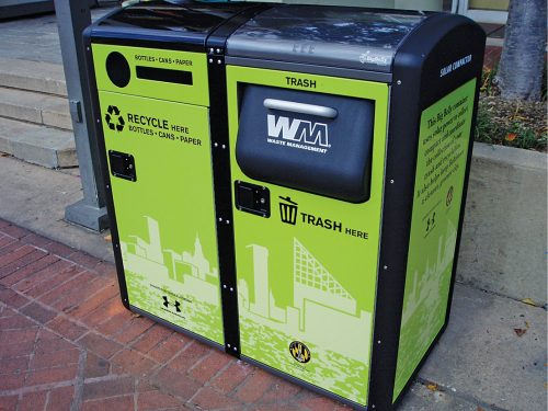 Representation of smart dustbin